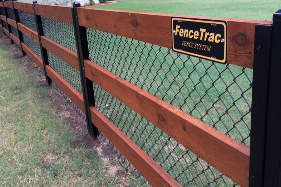 Privacy Fence Idea Gallery Metal Fence Posts