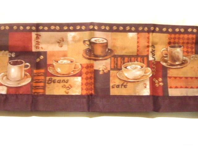 Delightful Coffee Themed Kitchen Curtains Coffee Cups $29.95 This Complete Set Of Kitchen  Curtains Includes A Swag