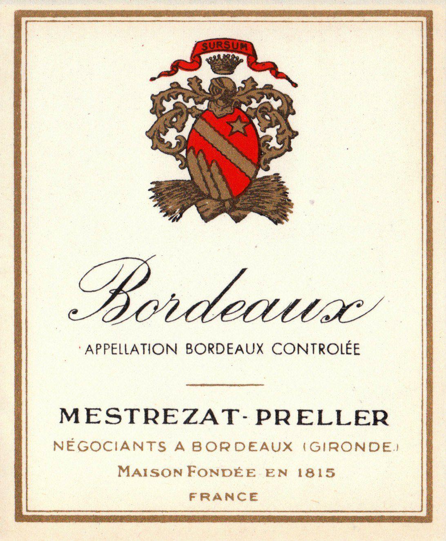 Wine Cork Wine Label Vintage Bordeaux Region Wine Labels Wine Label Vintage Classic Wine Labels Wine Label