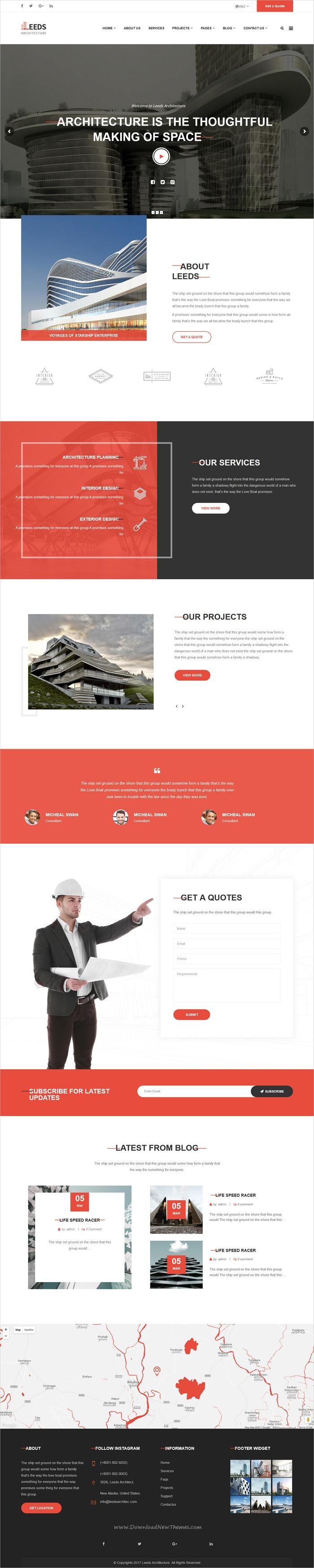 Leeds Interior Design Wordpress Theme Agency Website Design Article Design Beauty Design