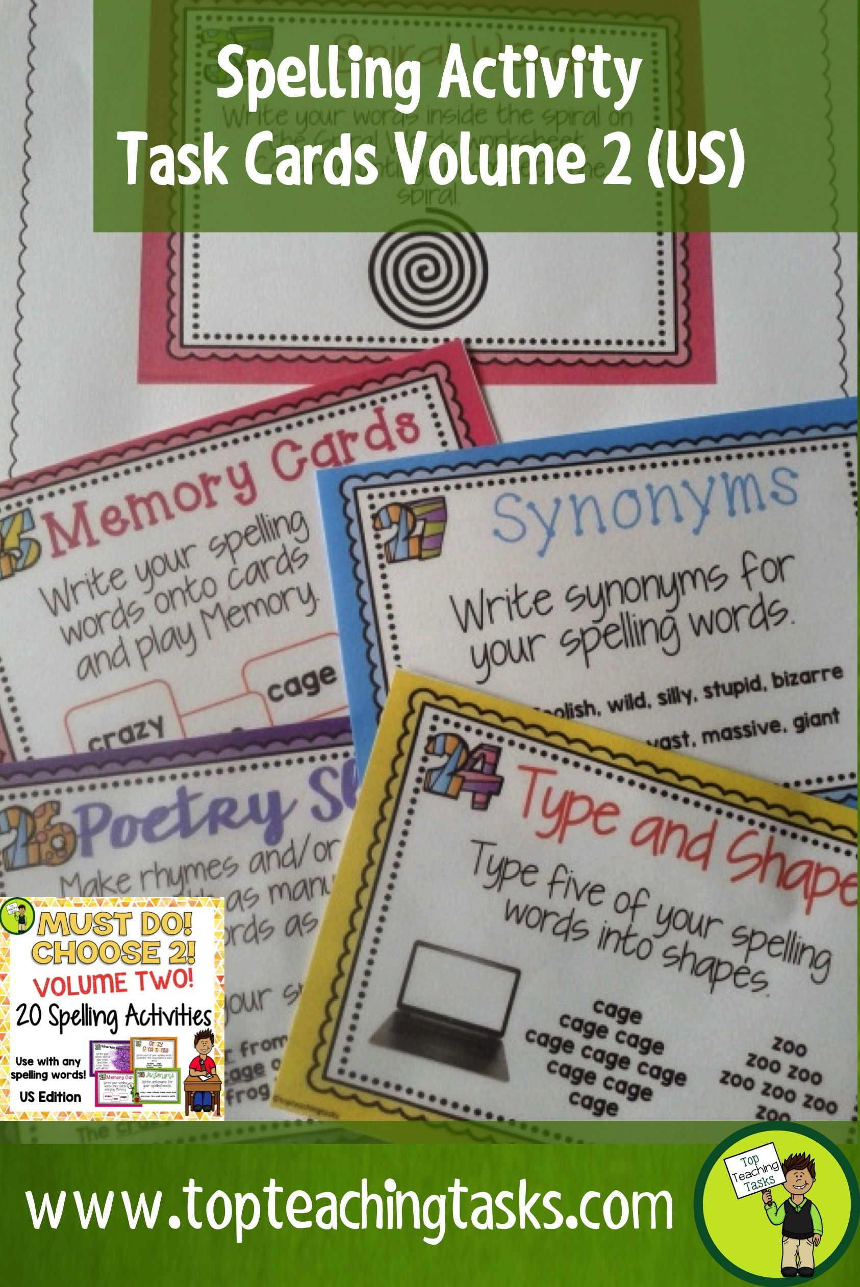 Back To School These Spelling Activity Task Cards And
