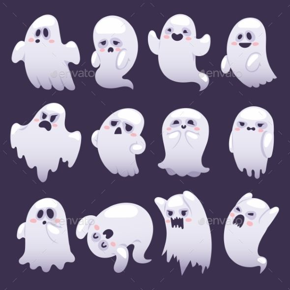 Ghost Character Vector Characters Monster Design Cute Ghost