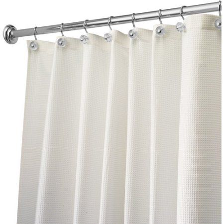 Carlton Fabric Shower Curtain 54 Inch X 78 Inch Natural Beige