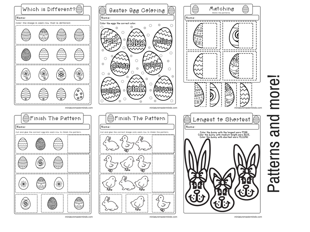 Easter No Prep Preschool And Kindergarten Worksheet 30
