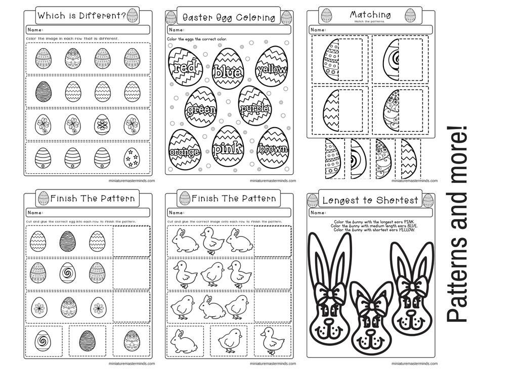 Easter No Prep Preschool And Kindergarten Worksheet 30