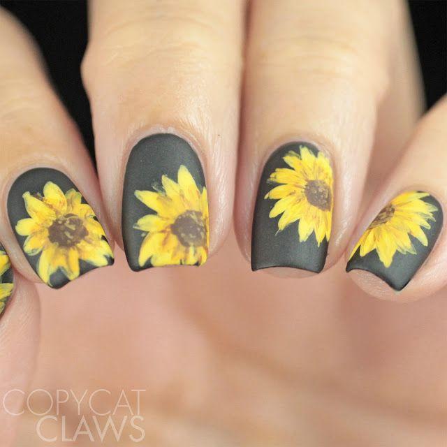 Sunflower Nail Art - Sunflower Nail Art Nail Polish Pinterest Sunflower Nail Art