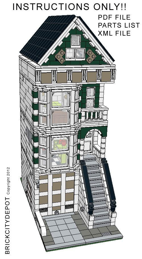 Lego Custom Modular Building San Francisco Victorian House