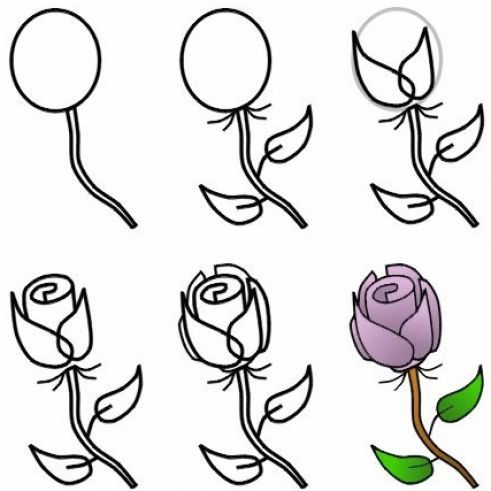 Drawing roses step by step how to draw a rose step by step with pencil pictures 4