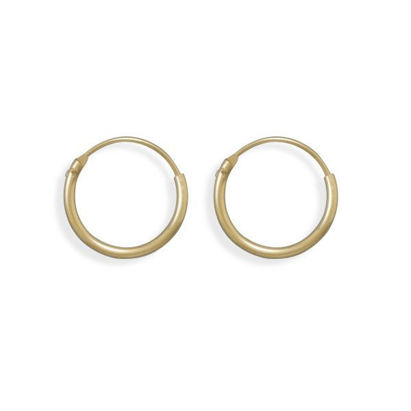 12/20 Gold Filled 1mm x 16mm Hoops