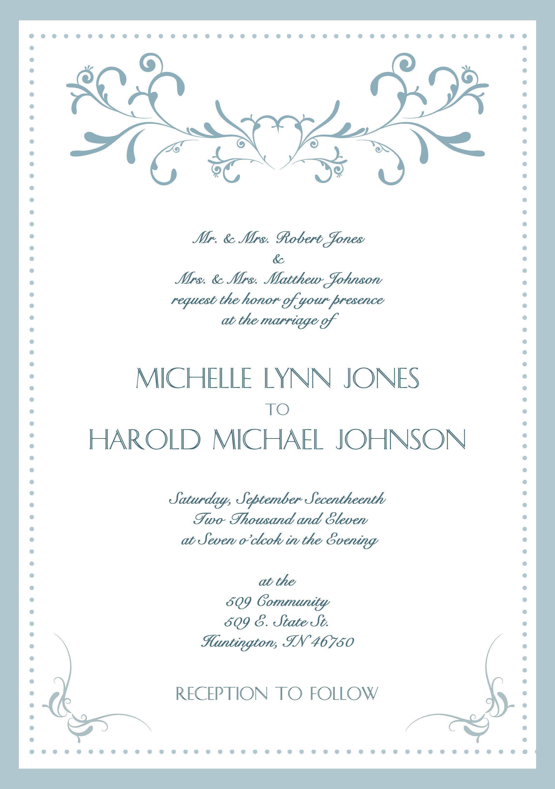 Contoh Formal Invitation : contoh, formal, invitation, Contoh, Formal, Invitation, Wedding, Materi, Pelajaran