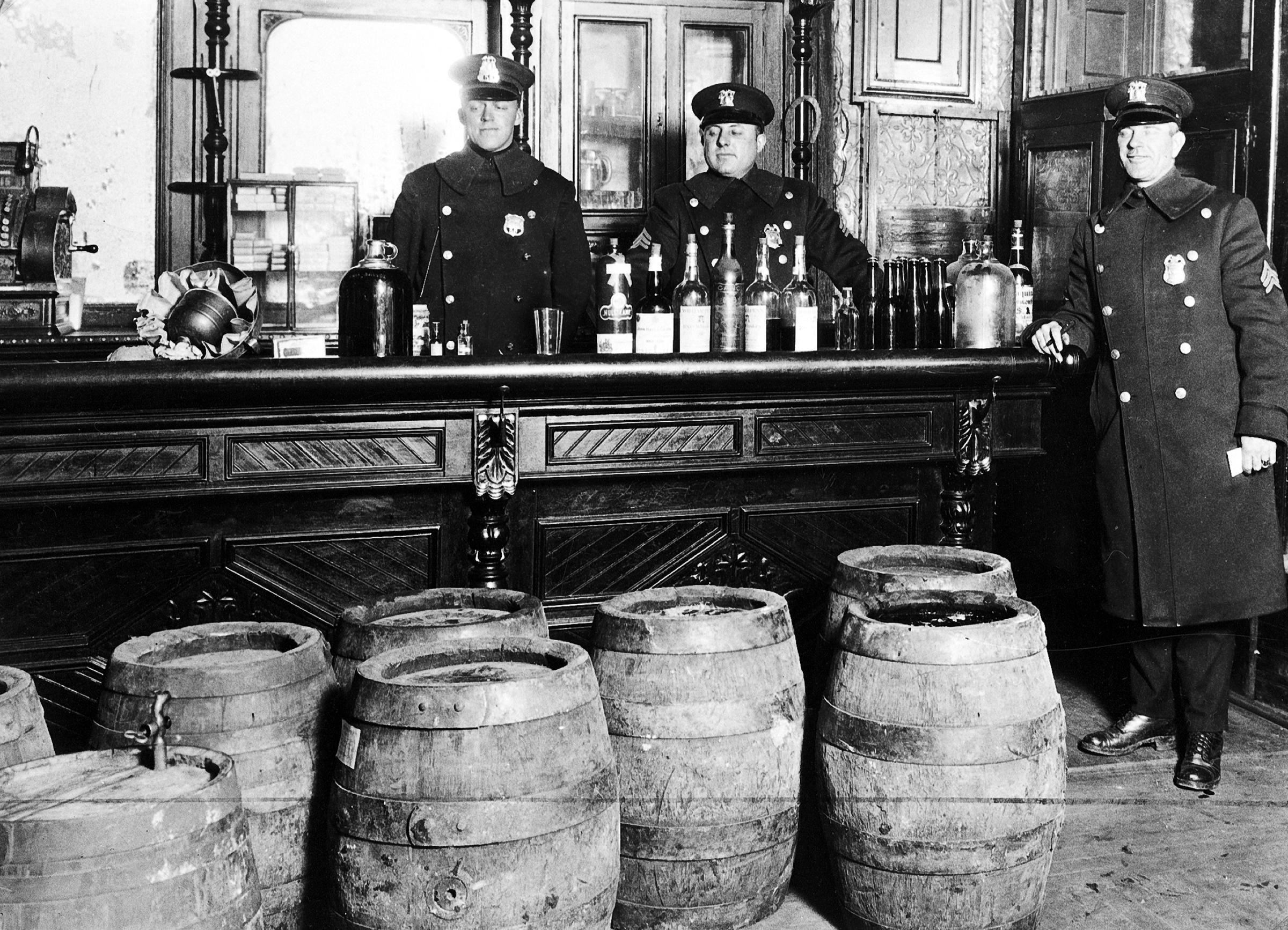 Liquor Agents Prohibition Liquor Bust PHOTO Moonshine Still Police Beer