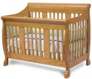 Convertible Sleigh Style Crib Woodworking Plans Design