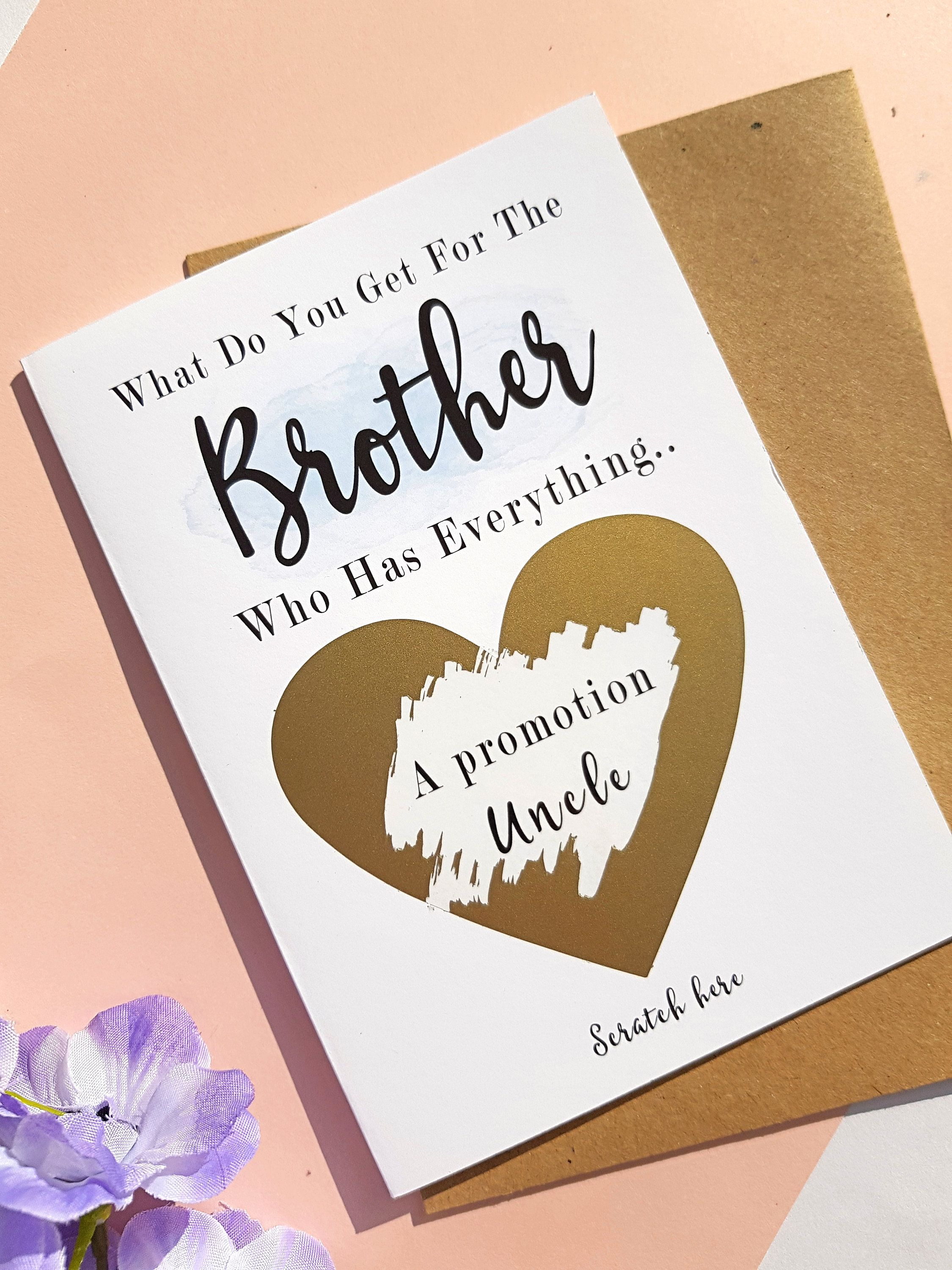 Pregnancy announcement card for sister brother going to be a auntie uncle PA28