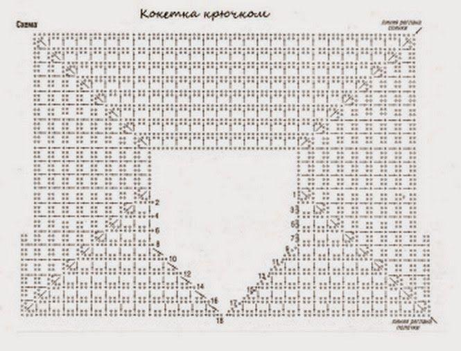 Квадратная кокетка крючком. Подборка схем | Crochet | Pinterest ...