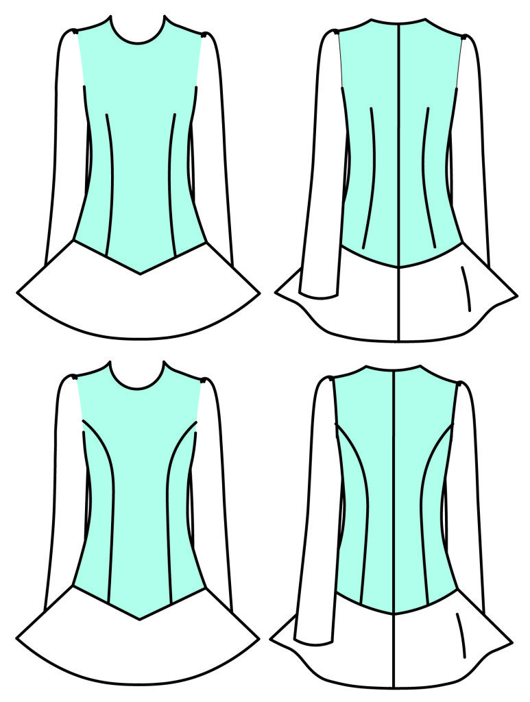 Solo Dress Pattern (3rd Edition) -   5 dress Dance dancers ideas