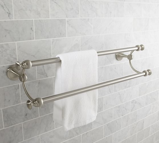 Mercer Double Towel Bar 24 Polished Nickel Finish In 2020