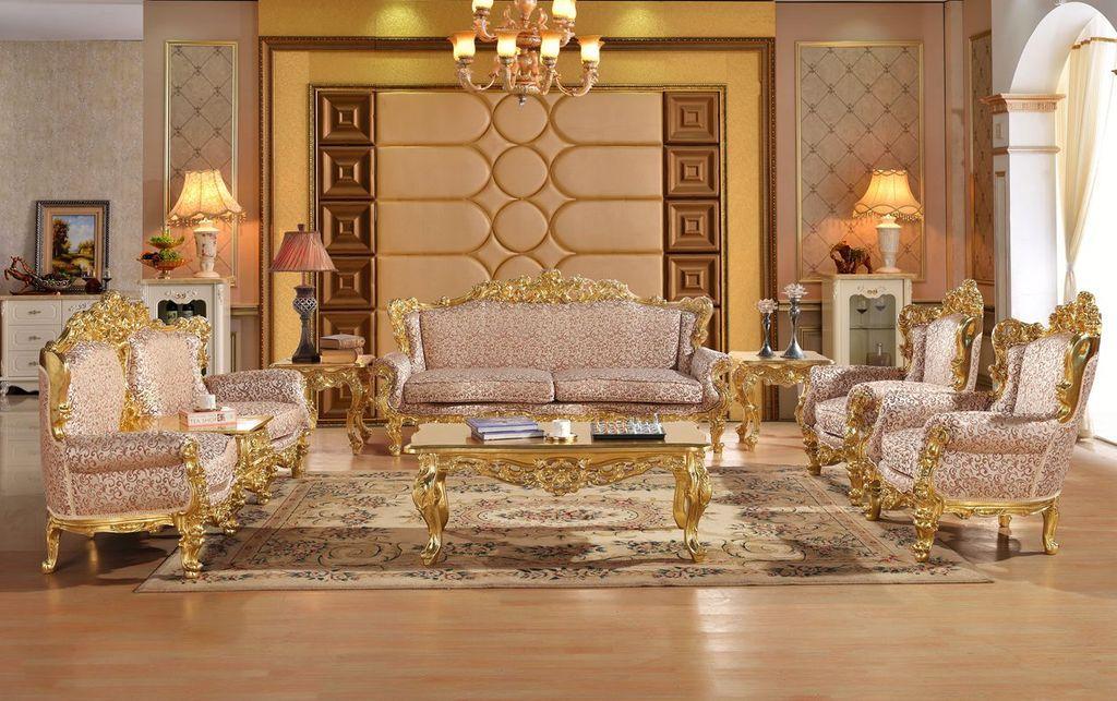 Carved Sofa Set Living Room Sectional