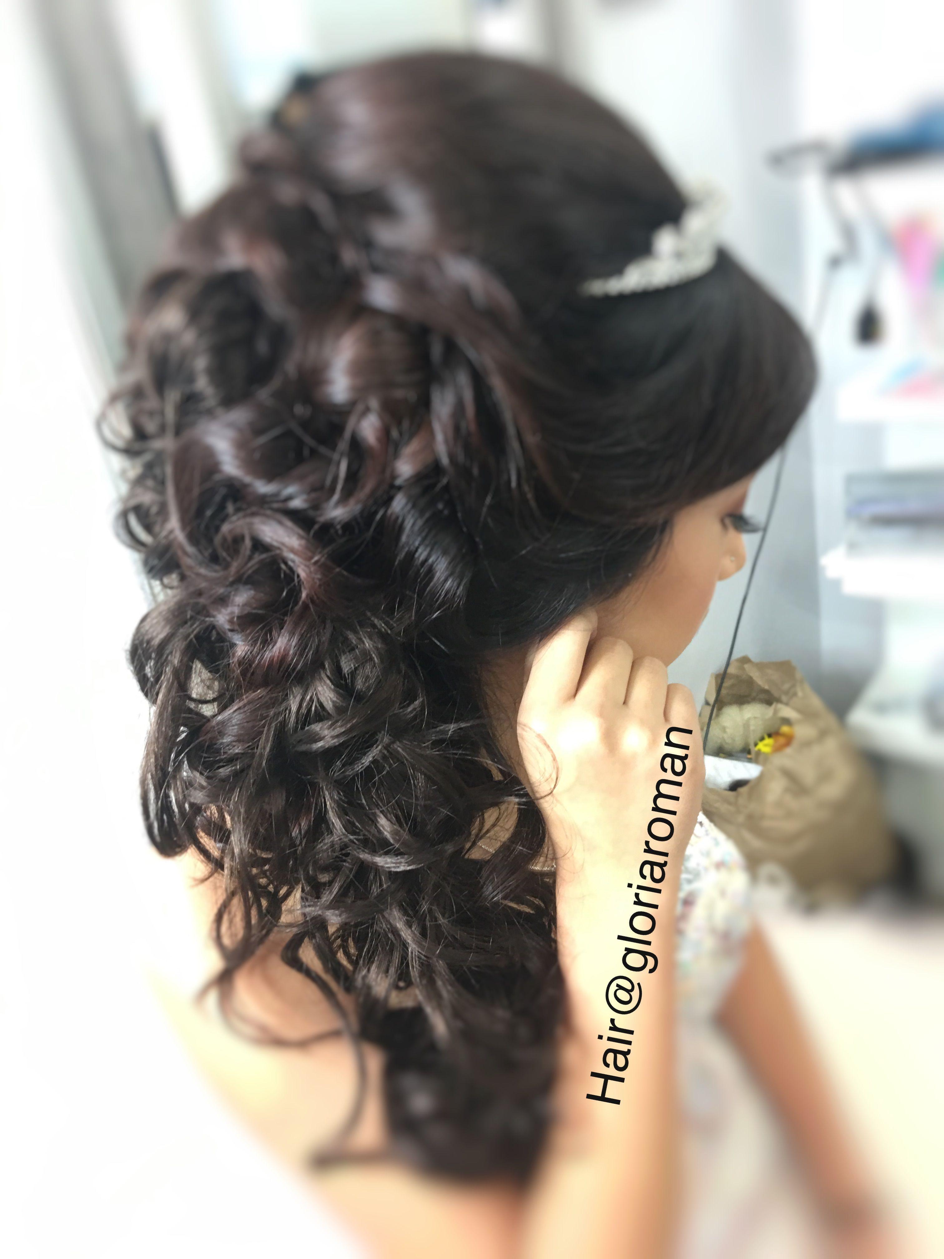 peinado de quinceañera. updo hairstyles , by gloria roman