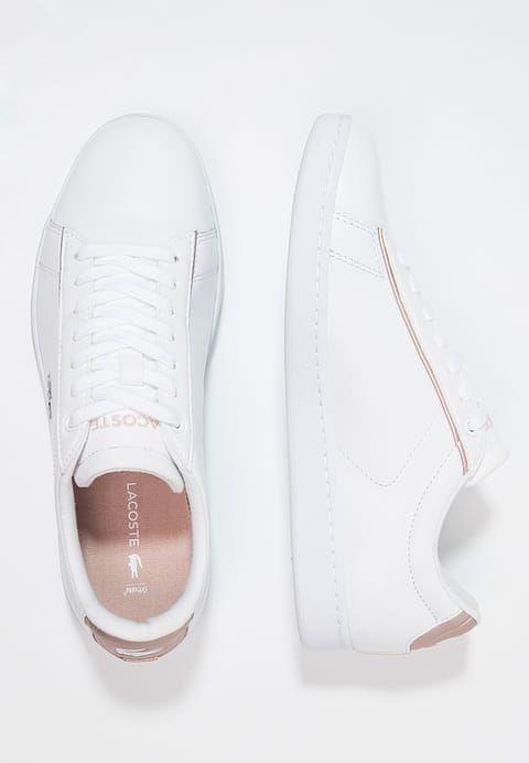 1370c623c Lacoste CARNABY EVO - Sneakers - white light pink - Zalando.dk