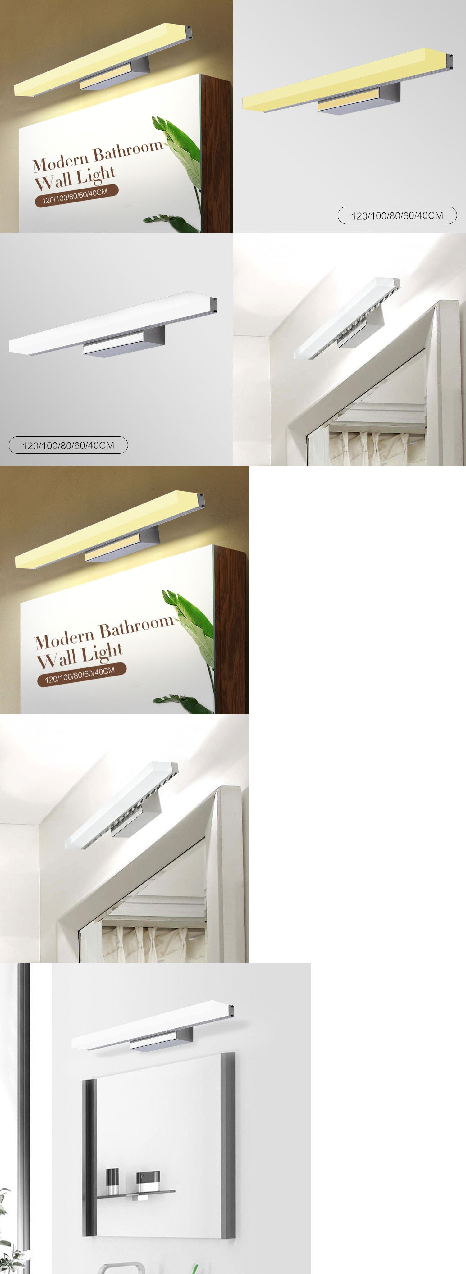 Led wall mount light fixture makeup bathroom vanity toilet home lamp