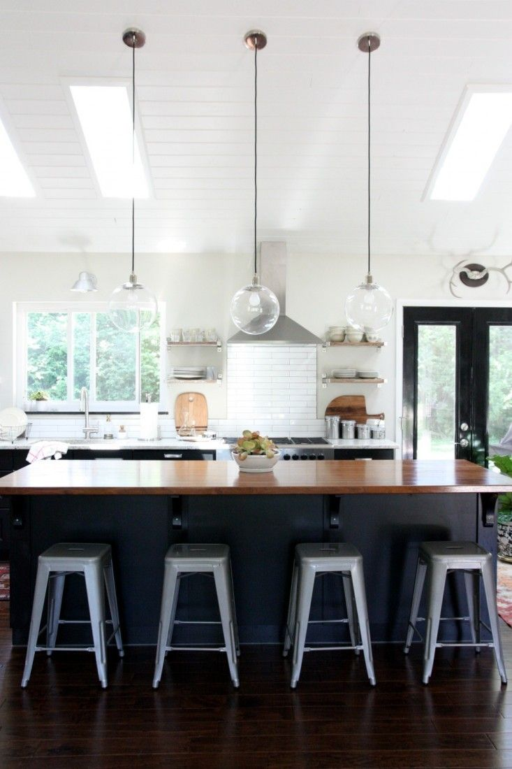 Tongue And Groove Pine White Ceiling Gl Pendant Lighting Black Island