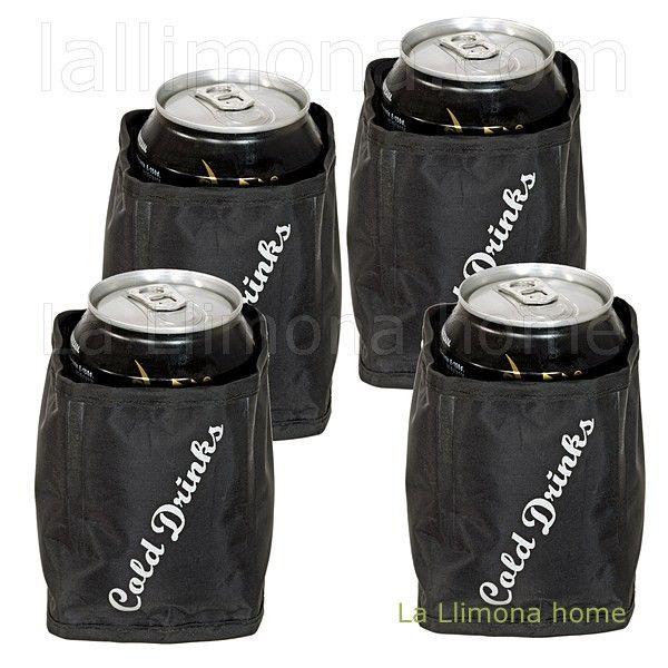 Enfriador bebidas en lata cold drinks set 4. http://www.lallimona.com/online/regalos-originales/