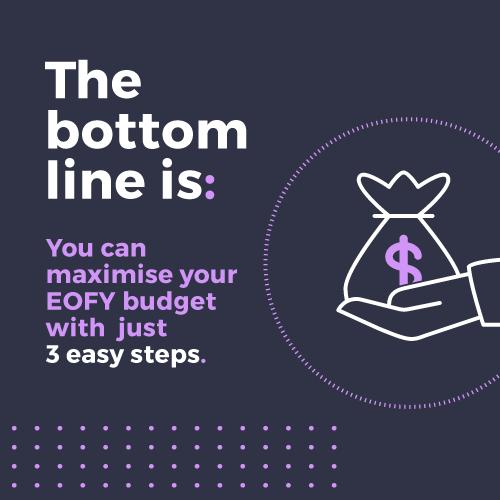 May Blog :: Maximising your bottom line #eofybudget #infographicdesign #explainervideos #presentationdesign #thejobcreative #contentvisualisation