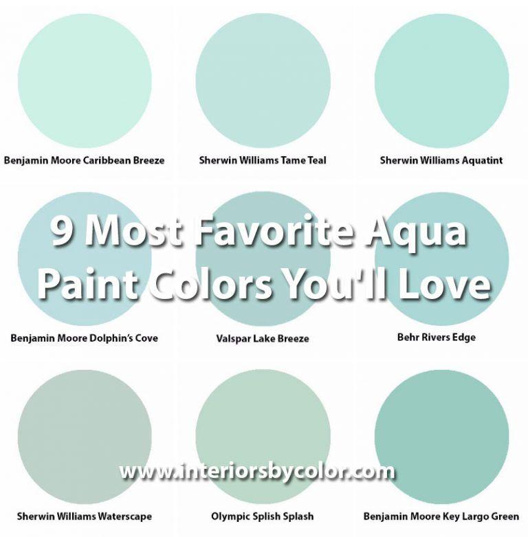 Interior Paint Color Combinations: 9 Most Favorite Aqua Paint Colors You'll Love