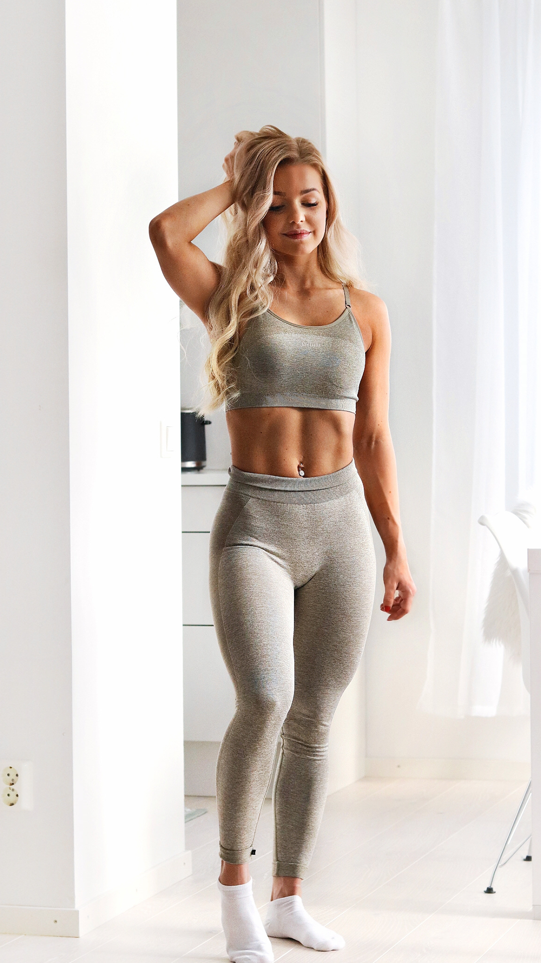 7d5e0bae9ce82 Denice Moberg beautifully styles the High Waisted Flex in Khaki. Which  colour is your favourite? The High Waisted Flex Leggings combine the  signature ...