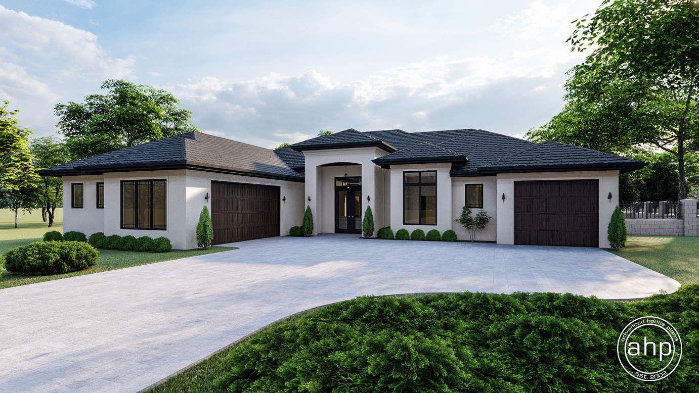 1 Story Mediterranean Style House Plan | Melbourne in 2020 | Mediterranean  style house plans, Mediterranean homes, Mediterranean house plan