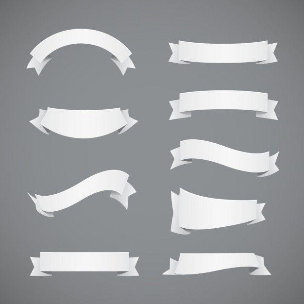 Skachivajte Kollekciya Belye Lenty Besplatno White Ribbon Vector Free Ribbon Banner