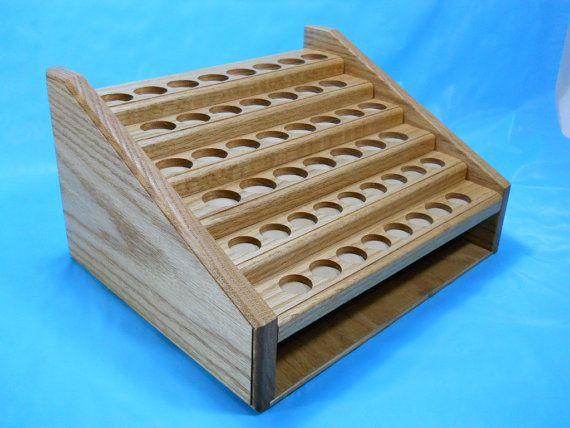 Oak Essential Oil Display Rack Shelf by BackwoodsWoodworks on Etsy