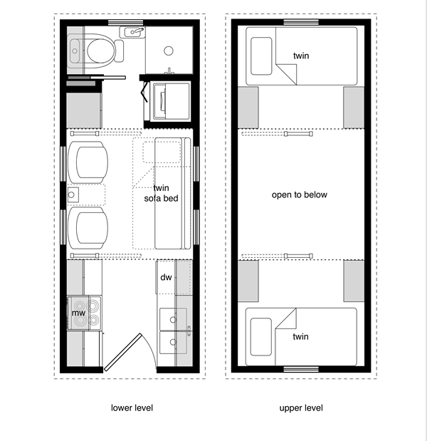 8x20 floor plan. i would add a fold down table for a dining space