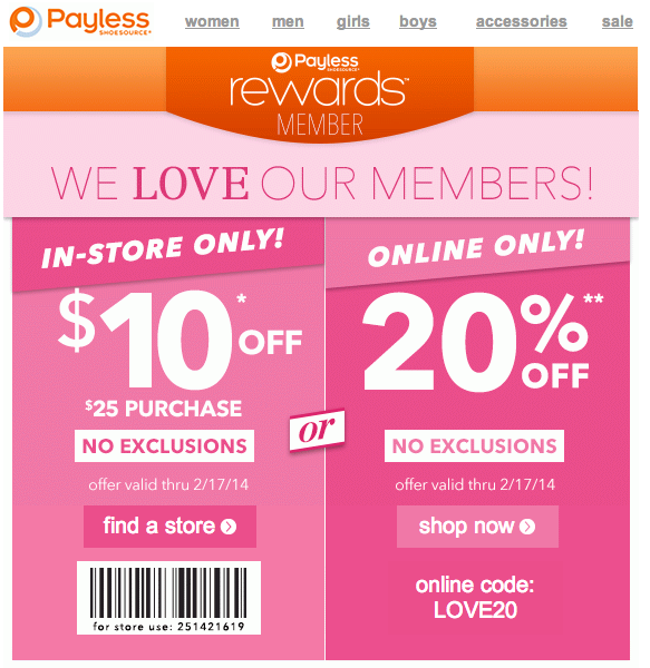 graphic relating to Payless Shoes Printable Coupon identified as Payless Footwear: $10 off $25 Printable Coupon Clever Searching