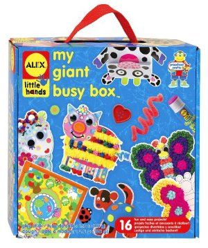 Alex Toys My Giant Busy Box by Alex. $27.42. Kids can create 16 different beautiful projects with this kit. This kit has great art activities for younger children. Also includes stick tissue art pictures, tons of tissue paper, glue, easy instructions. This kit is a great activity for one child or a small group. Art activities encourage a child's imagination and learning development. This kit includes 2 plastic frames, 4 animal punch outs, 10 colors of dough, 2 peel. From the Man...
