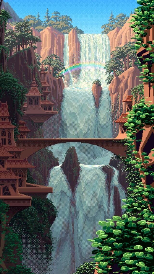 iPhone wallpaper | Fantasy art landscapes, Pixel art ...