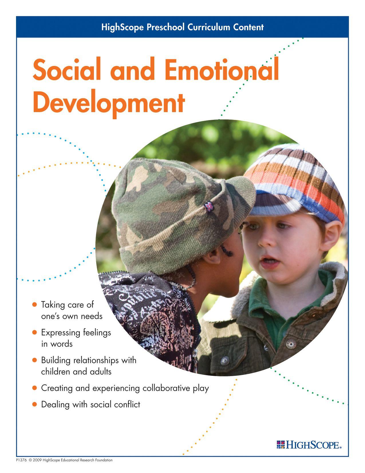 Social And Emotional Development Emotional Development Social Emotional Development Preschool Curriculum