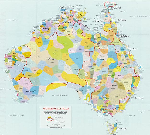 Aboriginal Map Of Australian Continent Outlining Distinct Tribes: Language Map Of Australia At Infoasik.co