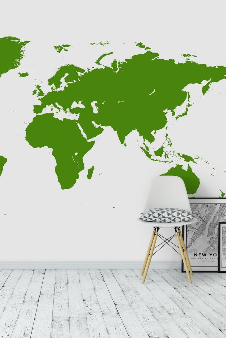 Green world map wall mural wallpaper map wall murals pinterest green world map wall mural wallpaper gumiabroncs Images