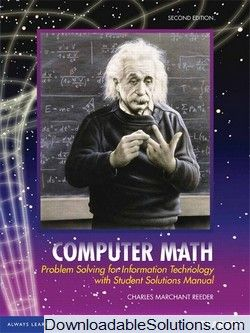 Solution Manual For Computer Math Problem Solving For Information Technology 2nd Edition Charles Marchant Re Problem Solving Math Problem Solving Math Problems