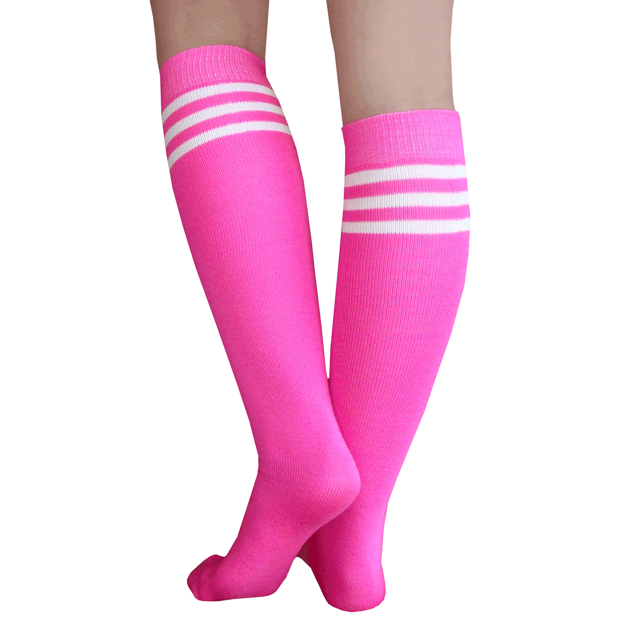 Ladies//Women Argyle Over the Knee socks in Pinks shoe size4-7
