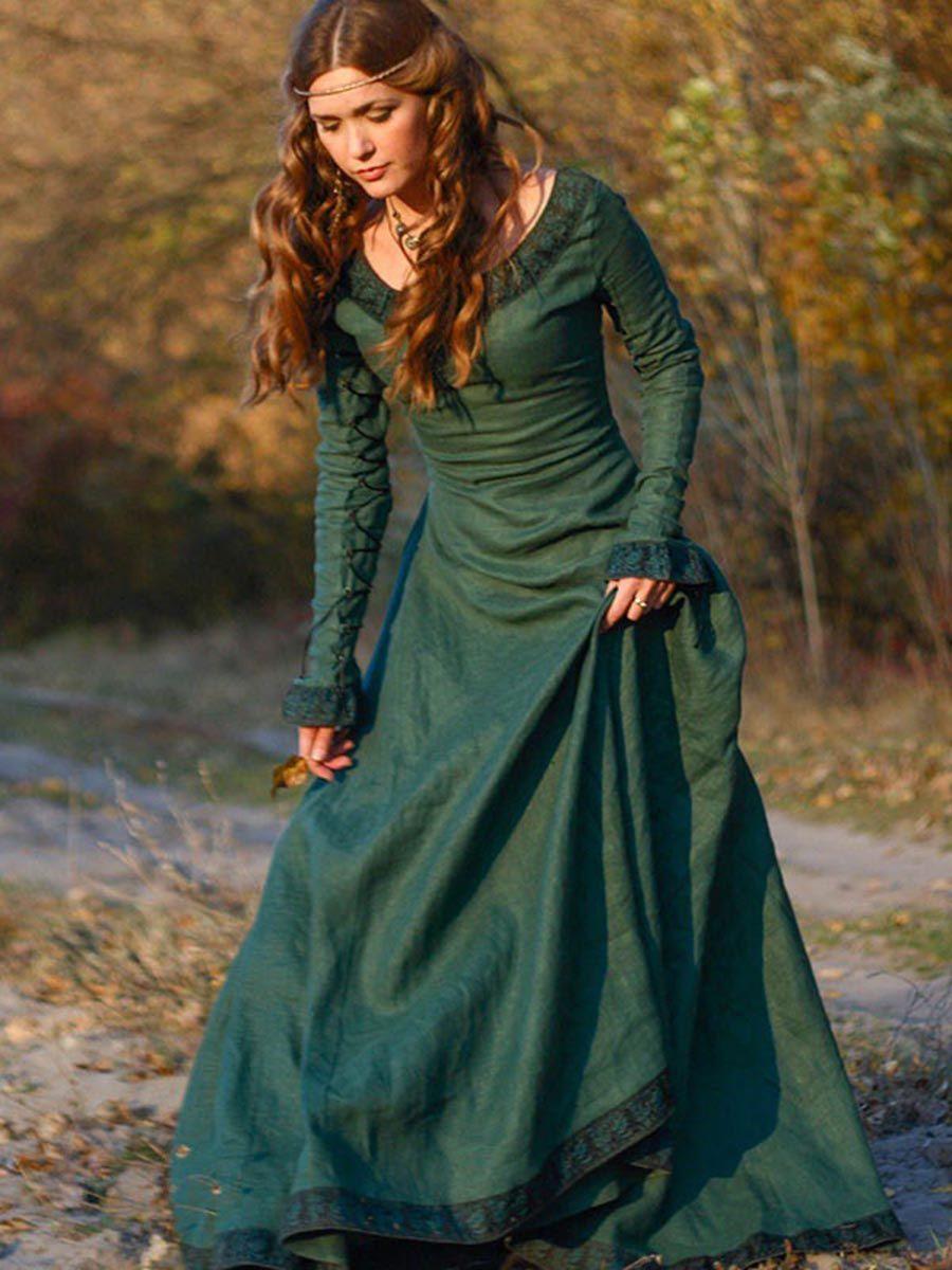 92a2a5cd53a69 Long Sleeve Boat Neck Women's Maxi Dress | Costumes | Dresses ...