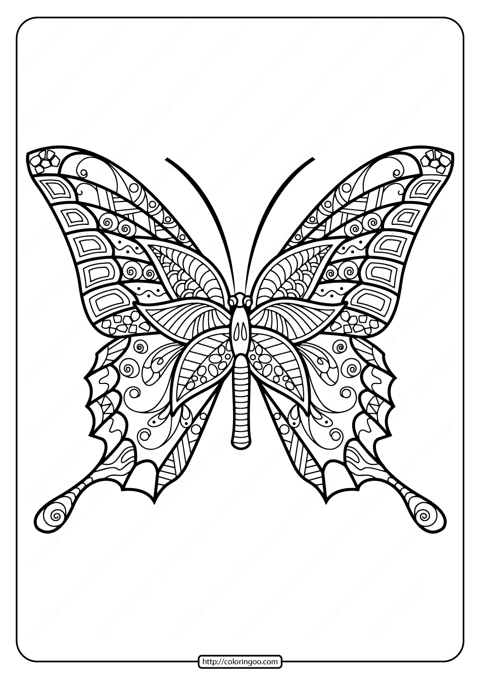 Printable Butterfly Mandala Pdf Coloring Pages 42 In 2020 Insect Coloring Pages Butterfly Coloring Page Butterfly Printable