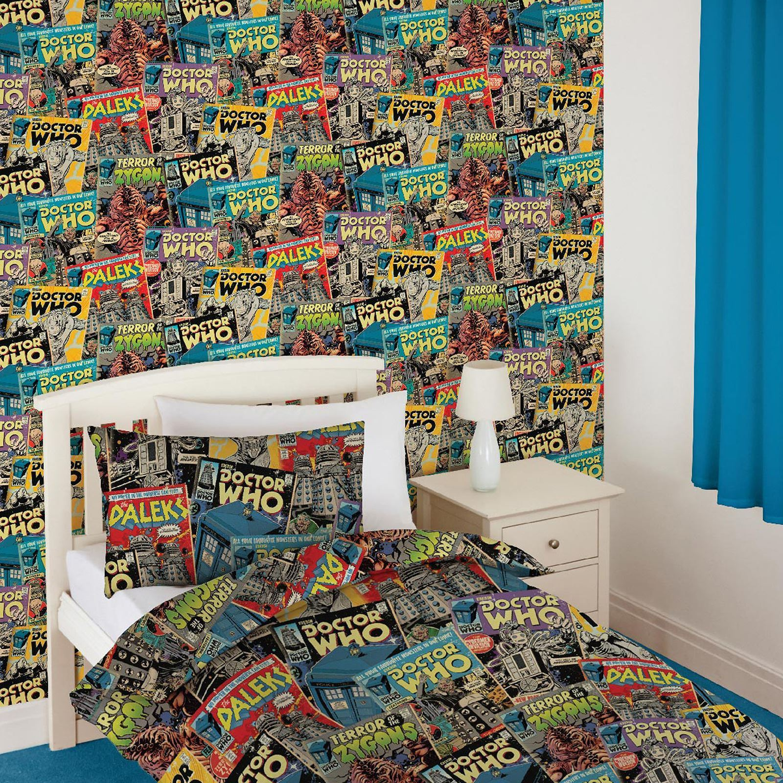 good looking doctor who bedroom wallpaper. DOCTOR DR WHO COMIC WALLPAPER ROLL ZYGONS DALEKS CYBERMEN DAVROS NEW FREE  P 9 GBP Doctor Dr Who Comic Wallpaper Roll Zygons Daleks Cybermen