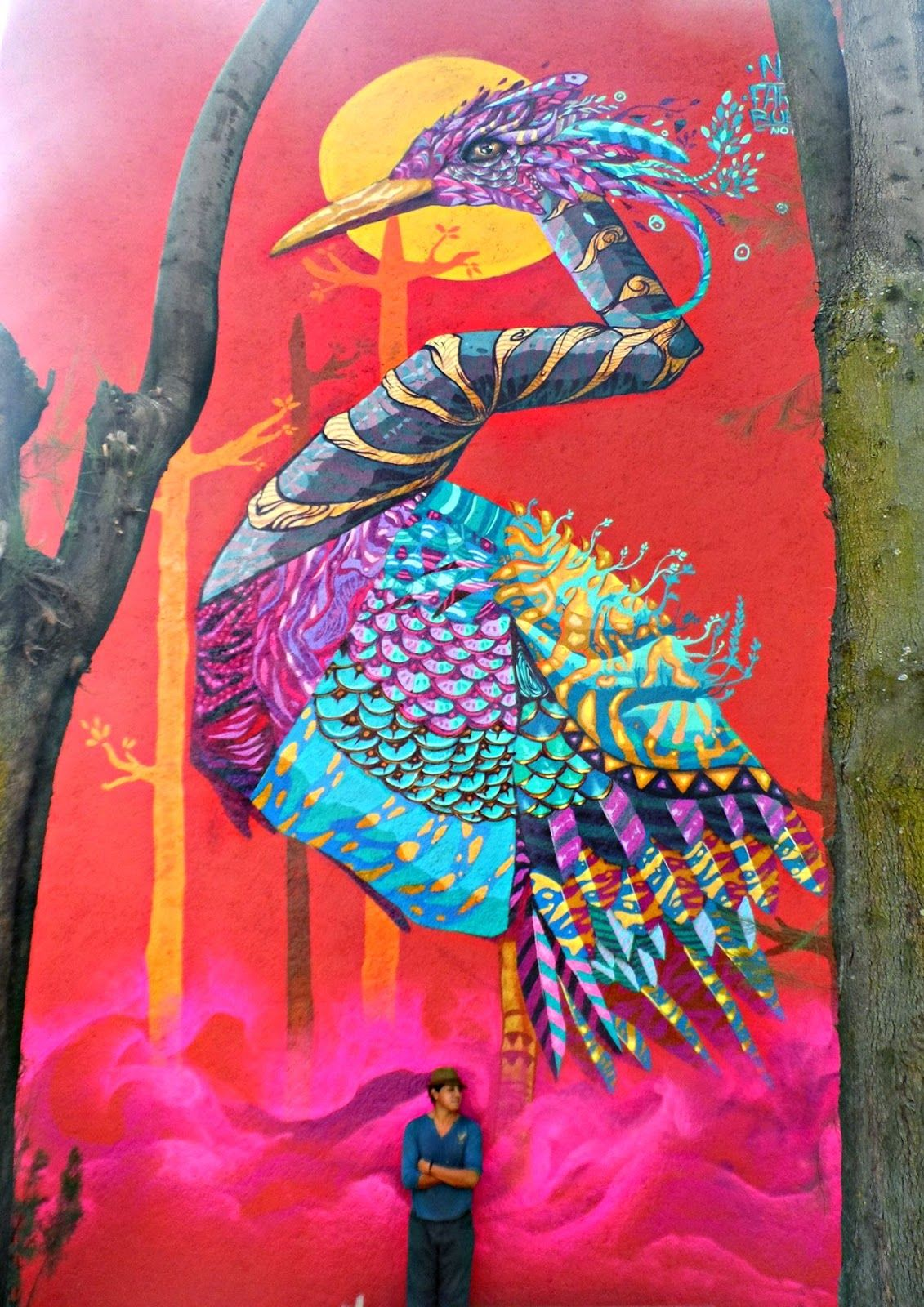 """2015 is starting well for Farid Rueda which somehow already managed to complete four large-scale murals on the streets of Mexico DF, Queretaro and Coyoacán in Mexico.Entitled """"Scream"""", """"TECOLOTL"""", """"Cantos de Color"""" or """"Coyohuacan"""", the Mexican muralist dropped some impressive animal-themed pieces which are sure to brighten the residents' neighborhood.Reconvene after the jump to discover"""