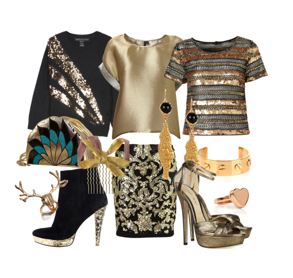 Style Inspiration for Winter Parties: Gold! on thisgirlfashiondiary.wordpress.com