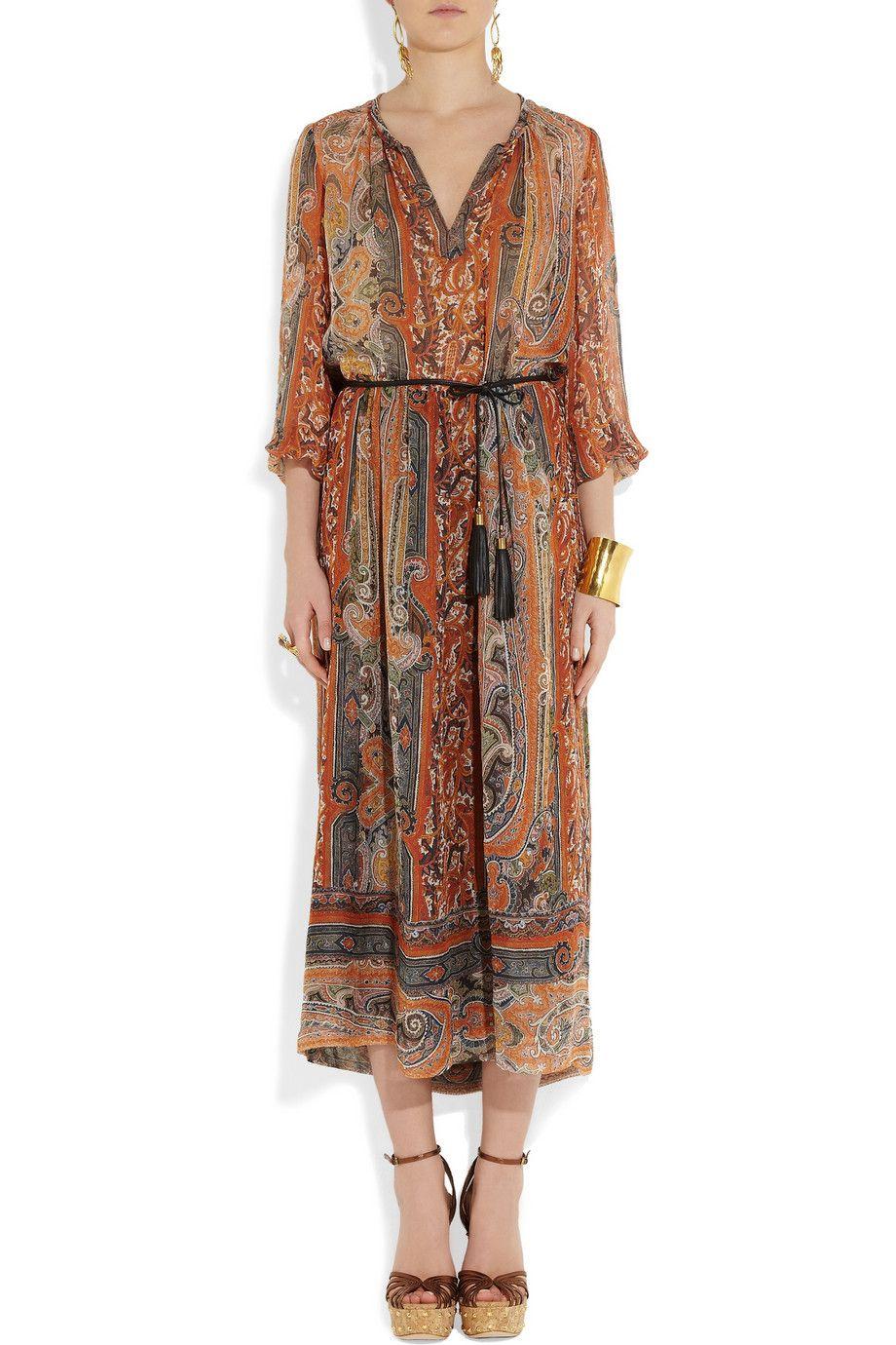 Isabel Marant Samuel Printed Silk Gauze Midi Dress Dresses Silk Printing Isabel Marant [ 1380 x 920 Pixel ]