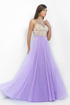 Special Occasion Dresses Halter Sleeveless Floor Length Tulle Zipper Up Back With Rhinestone Bicolor US$ 159.99 PGPTLS7486 - PromGroups.com