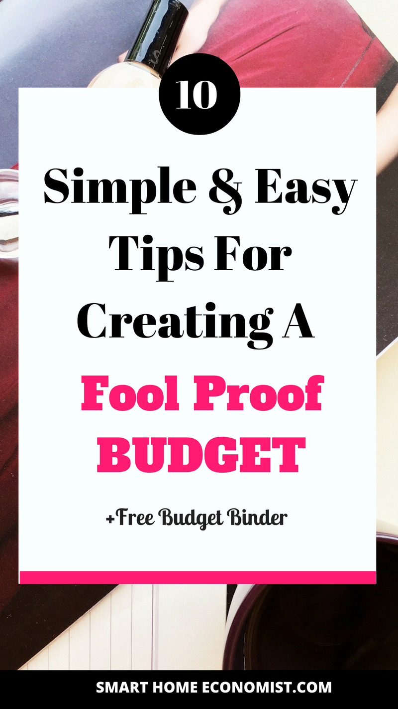 10 simple and easy tips for creating a fool proof budget on 56 Tips On Preparing Finances For The Future Home id=79197