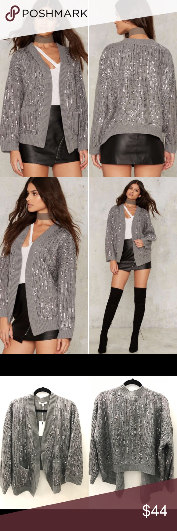 Nasty Gal Hooper Sequin Cardigan Boutique | D, Sequins and Cardigans